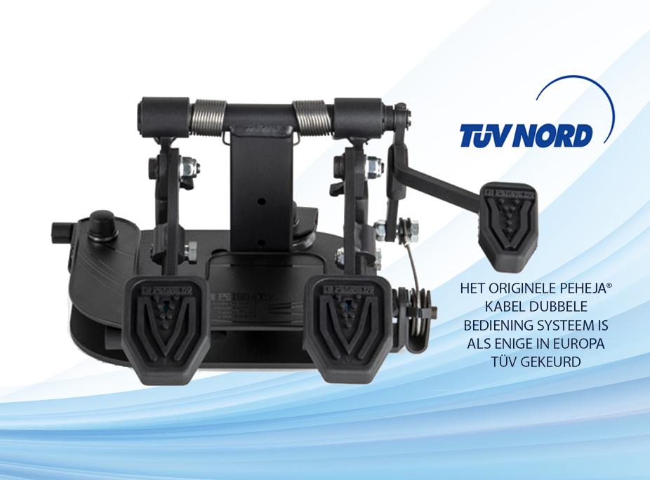 Het originele peheja kabel dubbele bediening systeem is als enige in europa TUV gekeurd